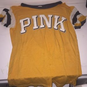 PINK yellow short sleeve